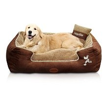HappierGo Waterproof Dog bed With Corn Pillow
