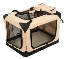 Jespet Deluxe Blue & Beige Indoor/Outdoor Soft Dog Crate