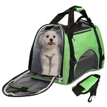Airline Approved Pet Carrier Under Seat Soft Sided for Dogs Small Puppies Airline Travel Handbag Shoulder Bag